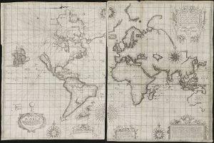 17세기 항해용 세계지도